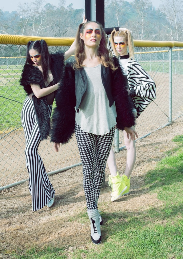kucoon houndstooth leggings faux fur jacket mean girls